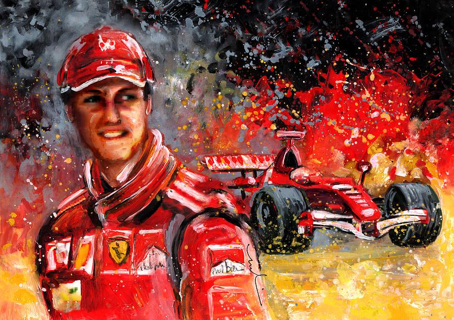 Michael Schumacher Painting by Miki De Goodaboom