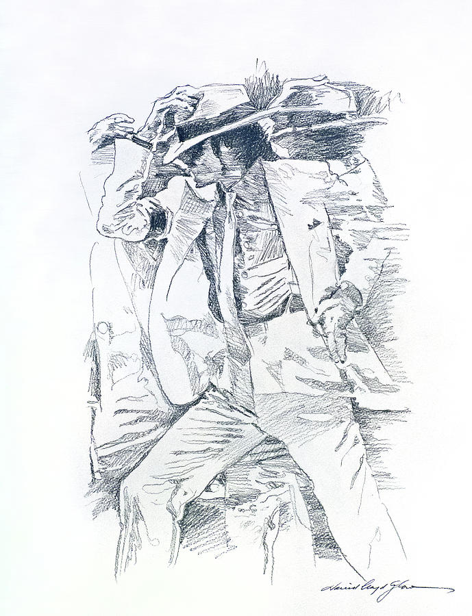 Michael Jackson Drawing -  Michael Smooth Criminal II by David Lloyd Glover