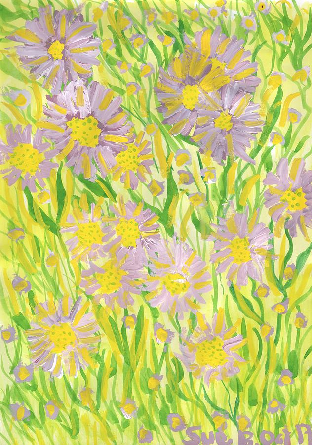 Michaelmas Daisies Painting - Michaelmas Daises by Sushila Burgess
