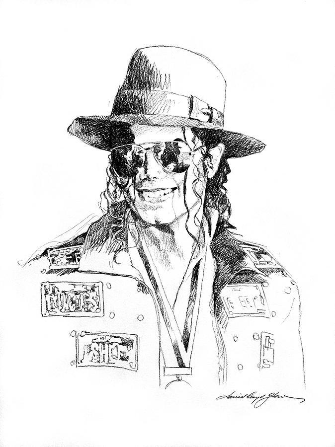 Michael Jackson Drawing - Michaels Jacket by David Lloyd Glover