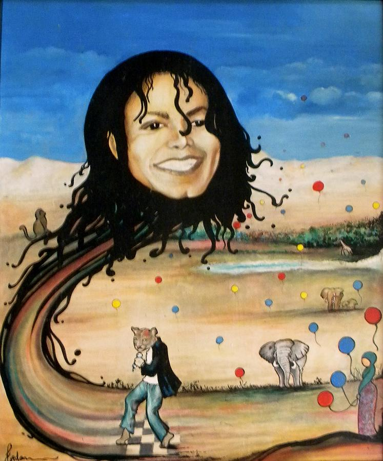Michael Jackson Painting - Michaels World by Jordana Sands