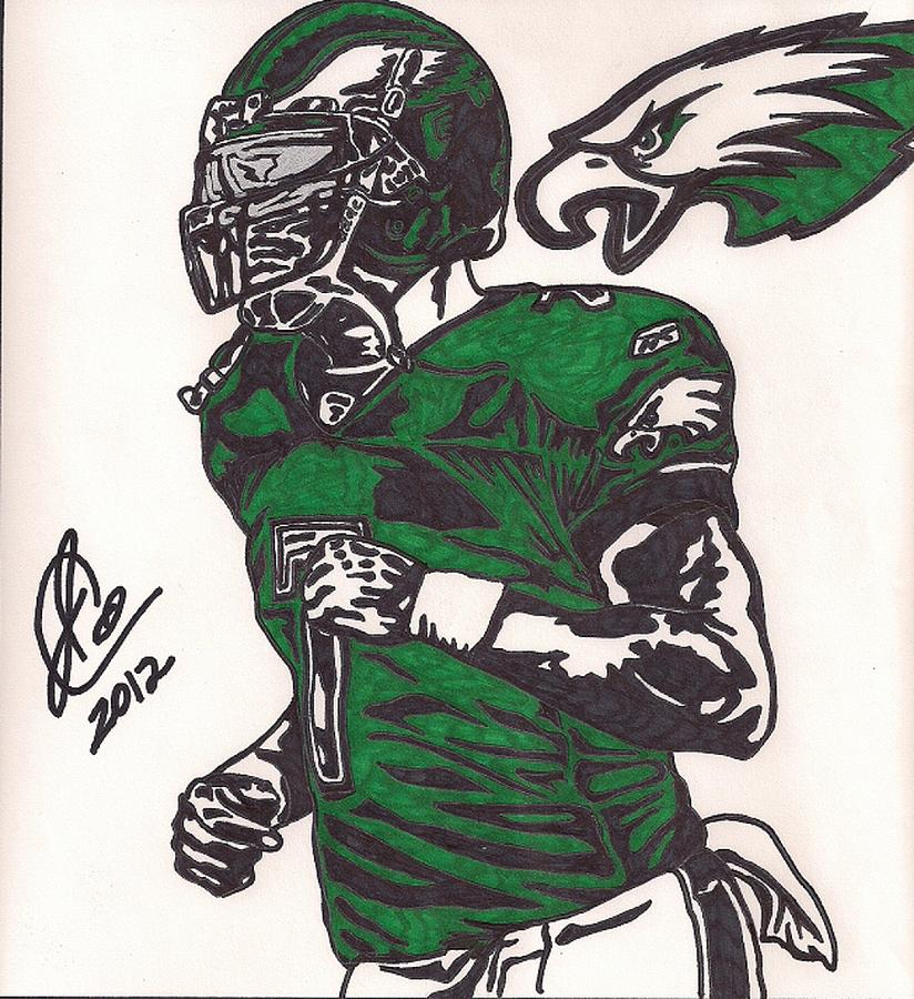 Philadelphia Eagles Drawings Drawing - Micheal Vick by Jeremiah Colley