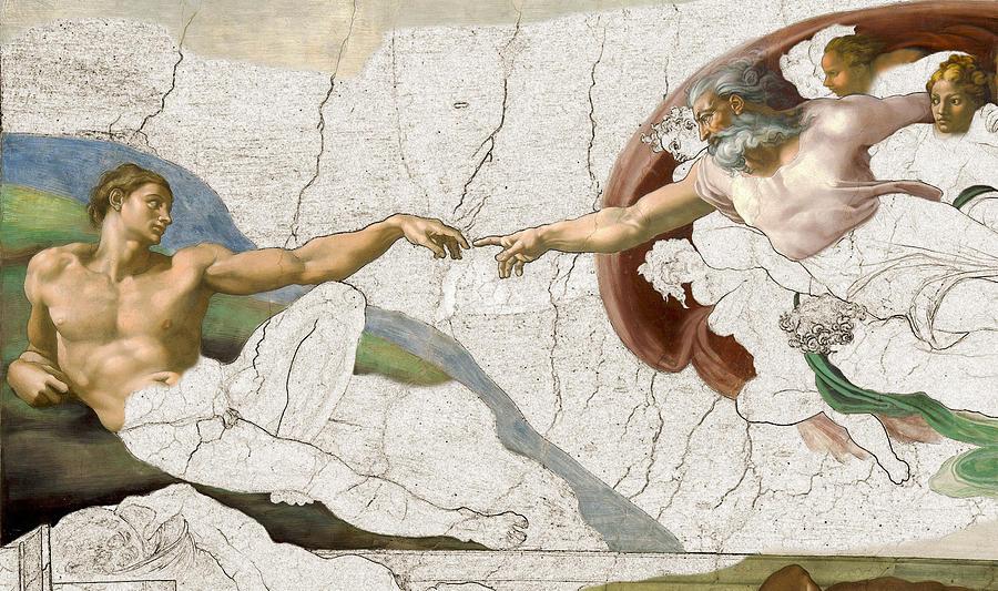 Michelangelo Painting - Michelangelo Creation Digital by Karla Beatty