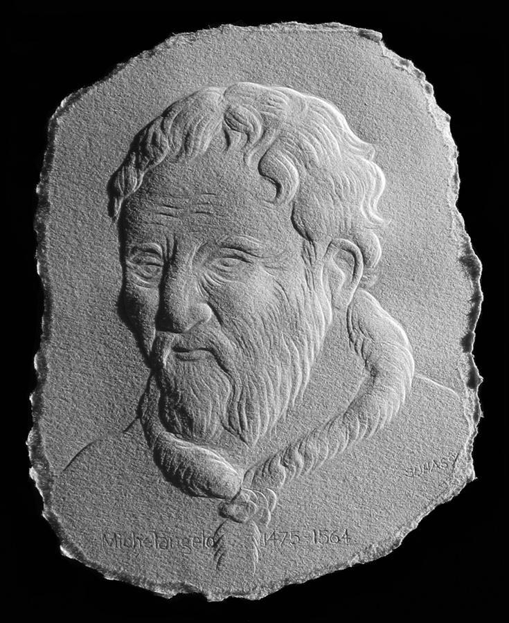 Portrait Relief - Michelangelo by Suhas Tavkar