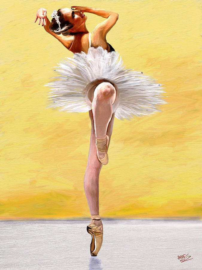 Impressionism Painting - Michele Wiles by James Shepherd