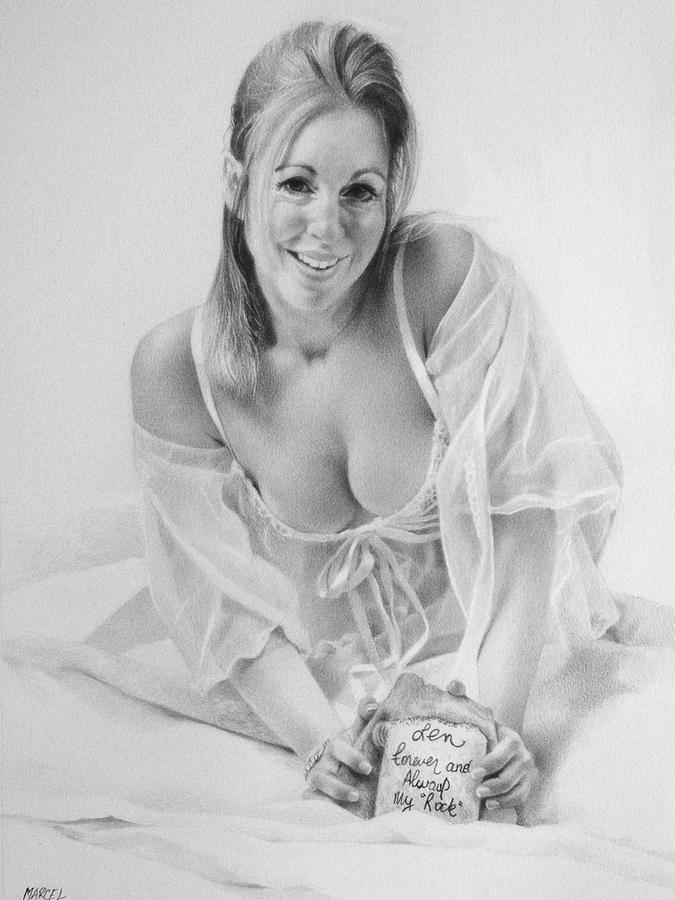 Pencil Drawing - Michelle by Marcel Franquelin