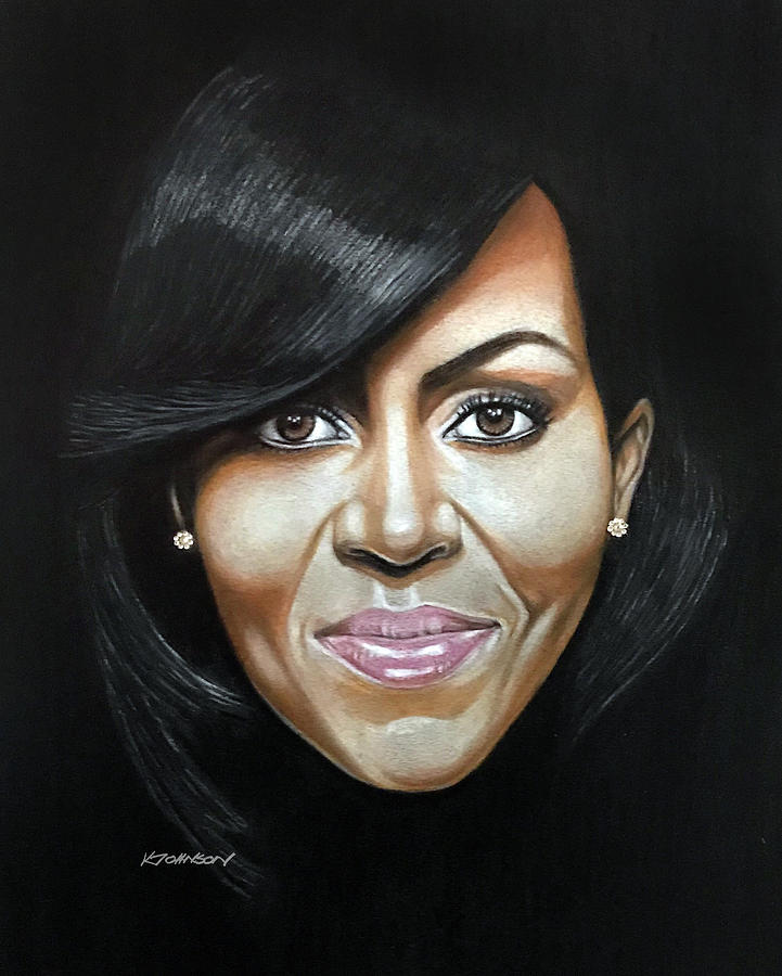 Michelle Obama by Kevin Johnson Art
