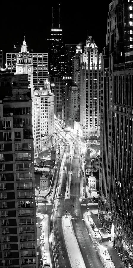 Vertical Photograph - Michigan Avenue by George Imrie Photography