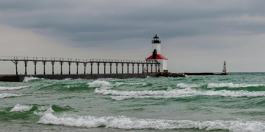 Michigan City East Pier Light by Steve L'Italien