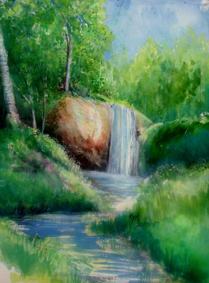 Falls Painting - Michigan Falls by Kym Inabinet