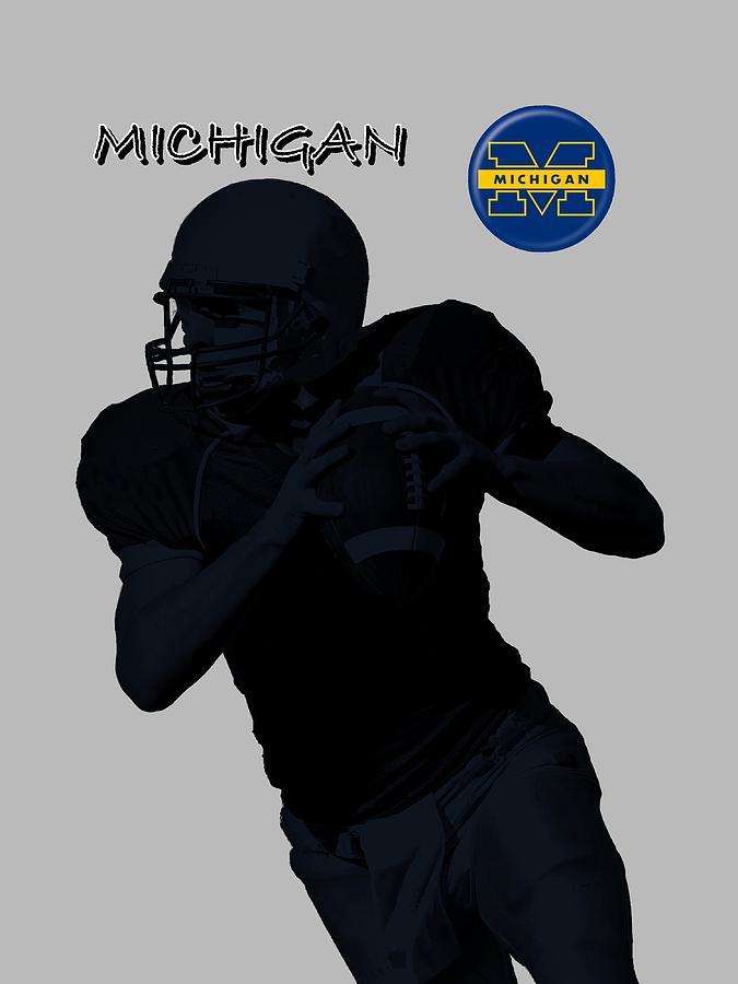 Michigan Football  Digital Art by David Dehner