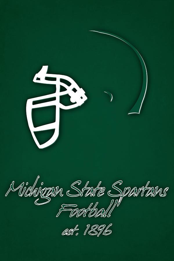 Michigan State Spartans Photograph - Michigan State Spartans Helmet by Joe Hamilton