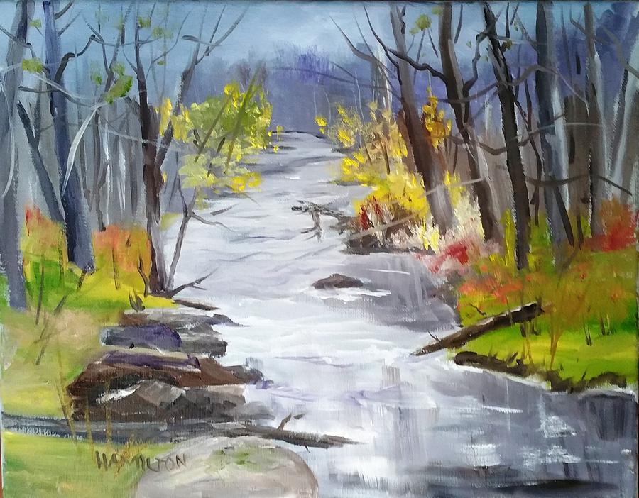 Michigan Stream by Larry Hamilton