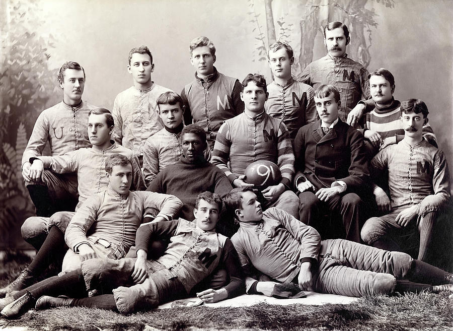 Wolverine Photograph - Michigan Wolverine Football Heritage 1890 by Daniel Hagerman