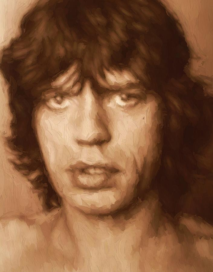 Mick Jagger Painting - Mick by Dan Sproul