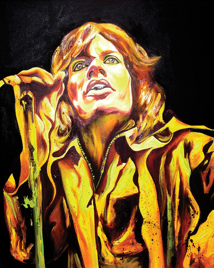 Mick Jagger Painting - Mick by Jacqueline DelBrocco