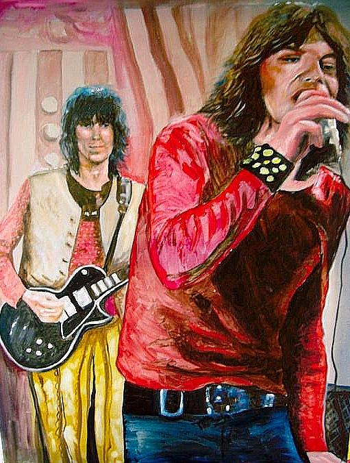 Mick Jagger And Keith Richards Painting - Mick Jagger And Keith Richards by Leland Castro