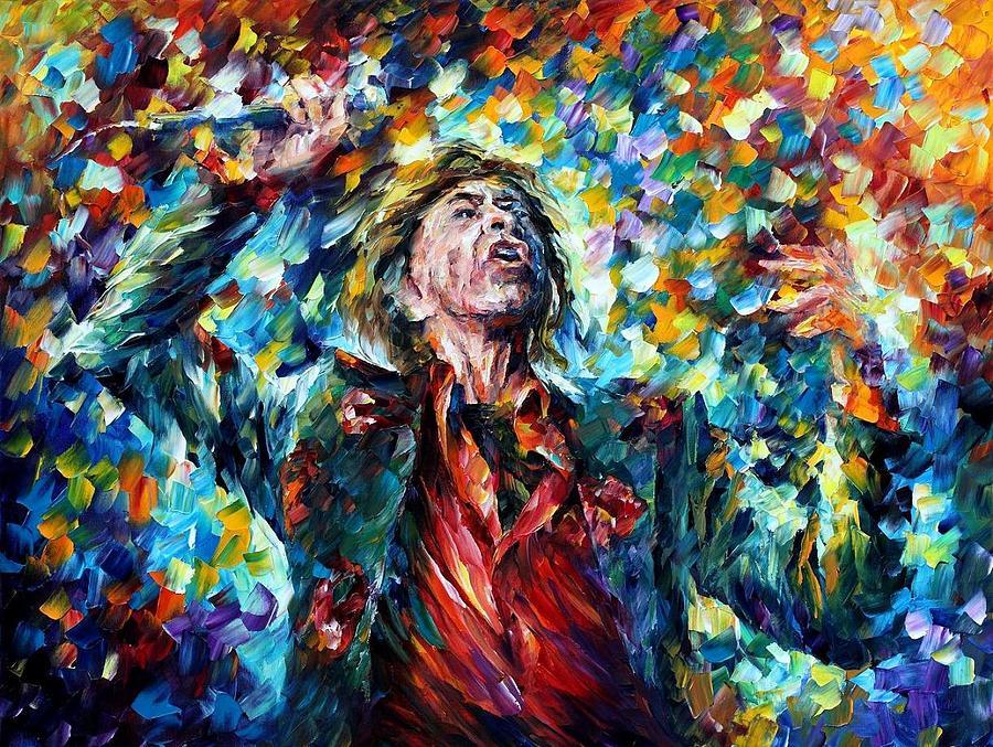 Afremov Painting - Mick Jagger by Leonid Afremov