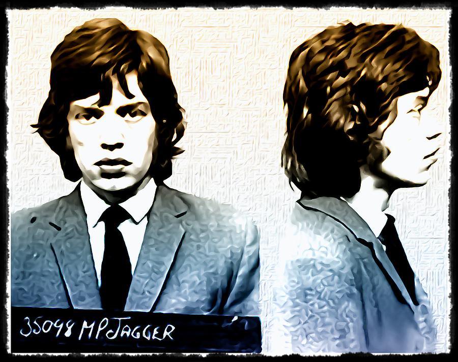 Mick Jagger Photograph - Mick Jagger Mugshot by Bill Cannon