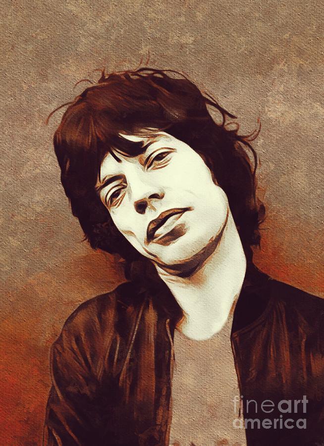 Mick Jagger, Music Legend Painting