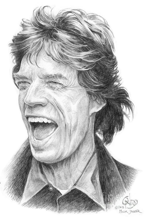 Mick Jagger Rolling Stones Drawing By Vlado Ondo