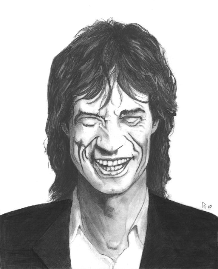 Mick Jagger/ Rolling Stones Drawing - Mick Jagger by Russell Griffenberg
