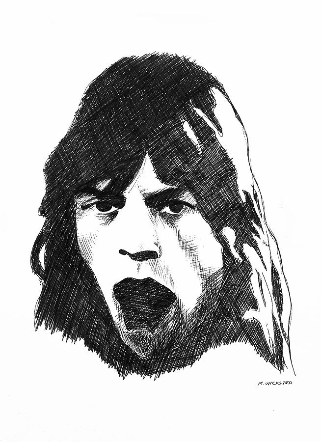 Mick Jagger Painting - Mick by Michael Wicksted