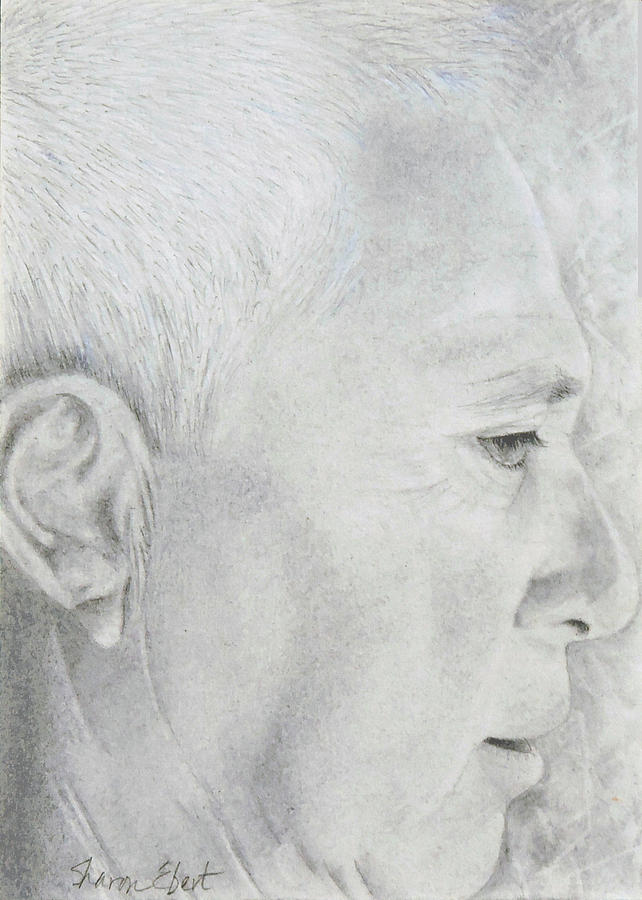 Graphite Drawing - Mick by Sharon Ebert