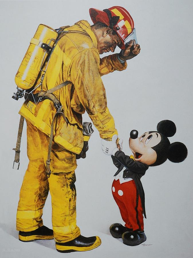 Walt Disney World Photograph - Mickey And The Bravest by Rob Hans