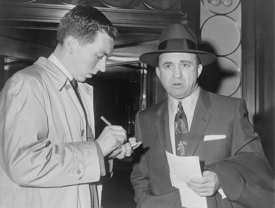 History Photograph - Mickey Cohen 1913-1976, Speaking by Everett