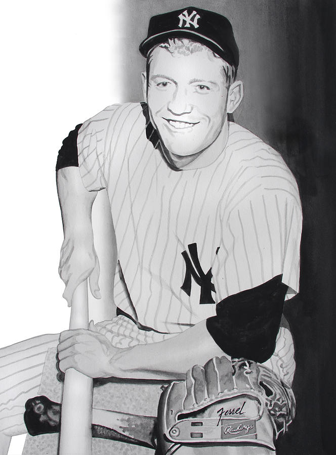 Mickey Mantle Painting - Mickey by Ferrel Cordle