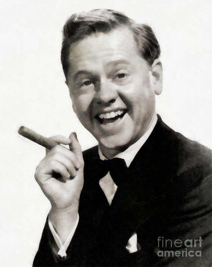 Mickey Rooney, Vintage Actor Painting