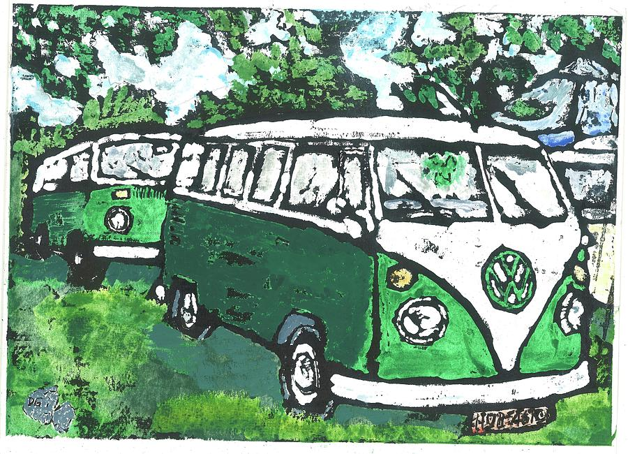 Kombi Painting - Microbus by Dick Gallagher