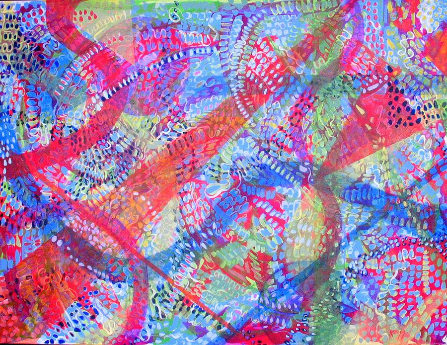Dots Painting - Microcosm II by Rollin Kocsis