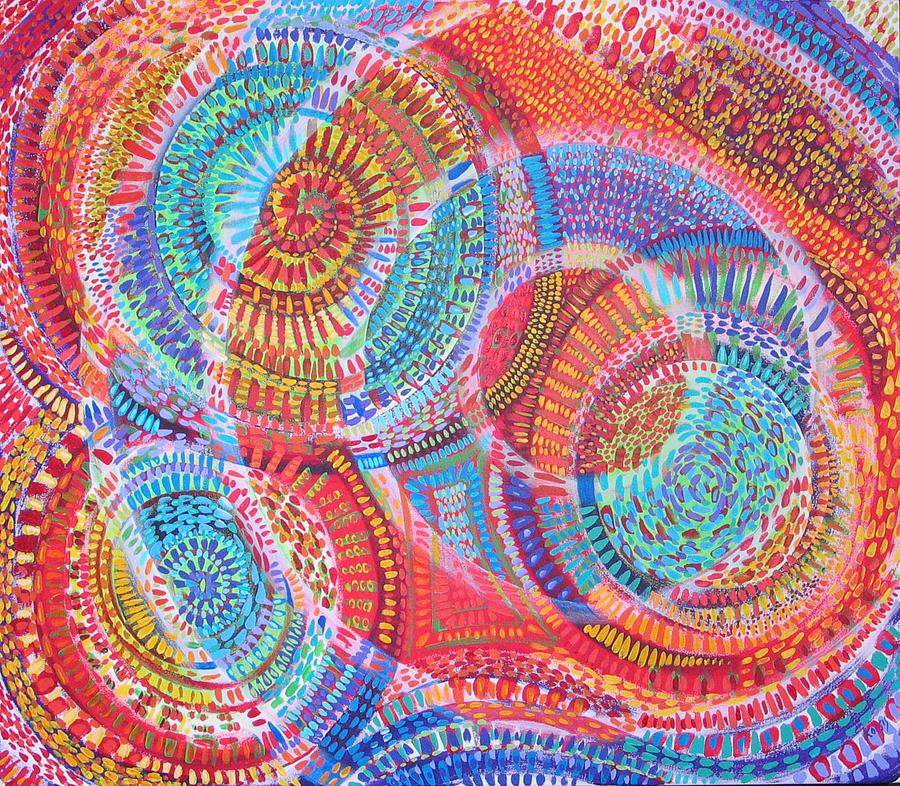 Geometric Painting - Microcosm VIII by Rollin Kocsis