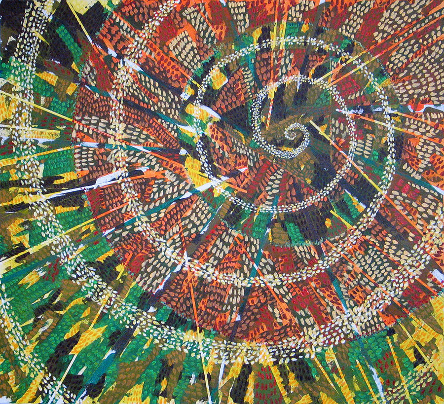 Non-representational Painting - Microcosm XIV by Rollin Kocsis