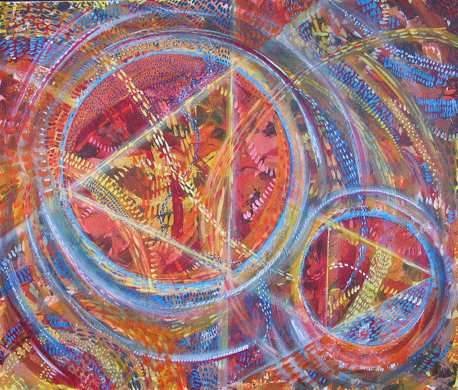 Geometric Painting - Microcosm XVI by Rollin Kocsis