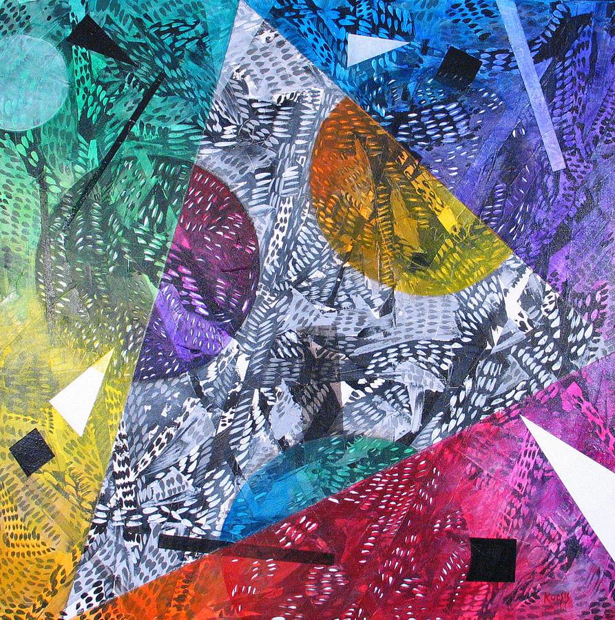 Geometric Painting - Microcosm Xx by Rollin Kocsis