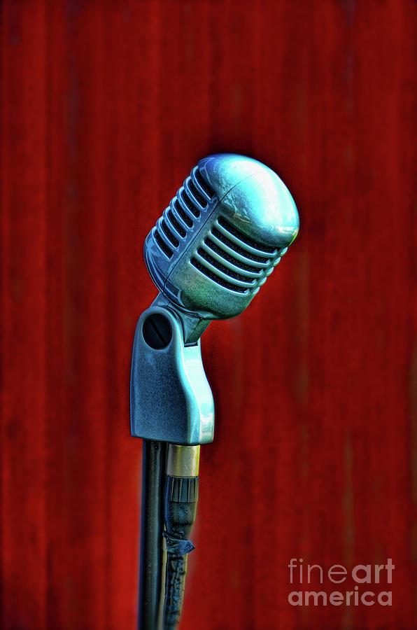 Microphone Photograph - Microphone by Jill Battaglia