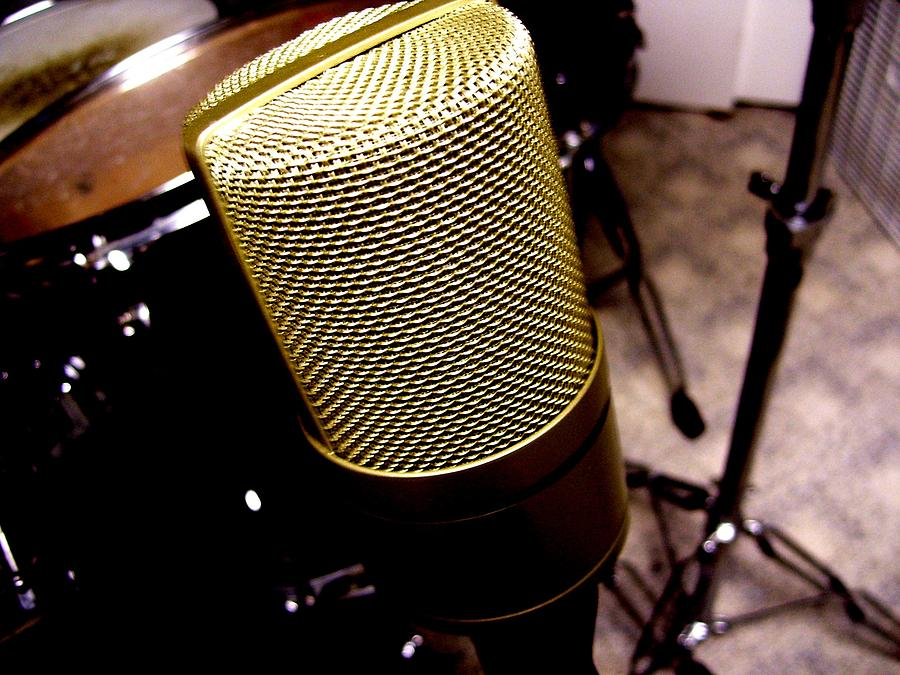 Microphone Photograph - Microphone by Michael Grubb