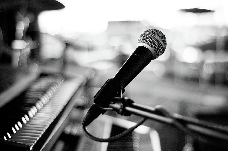 Horizontal Photograph - Microphone On Empty Stage by Image By Randymsantaana
