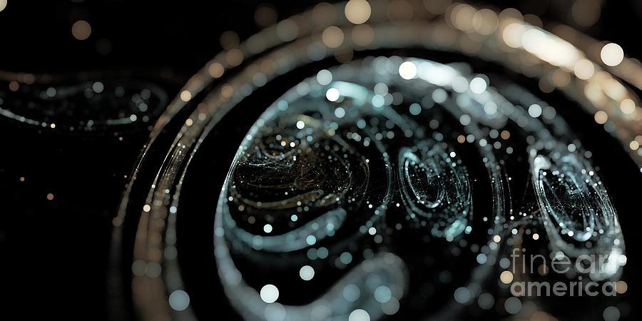 Microscop Digital Art - Microscopic IIi - Opale by Sandra Hoefer