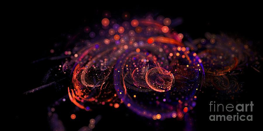 Fractal Digital Art - Microscopic Iv - Glass Jewels by Sandra Hoefer