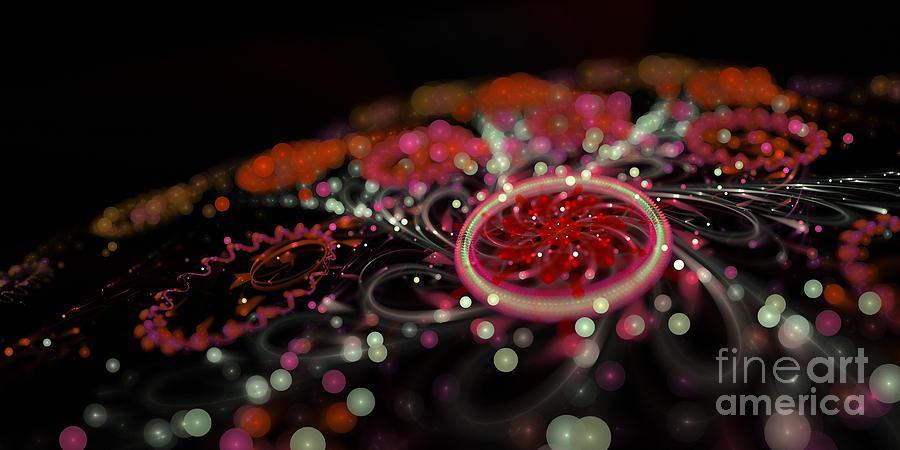 Fractal Digital Art - Microscopic V - Glitter by Sandra Hoefer