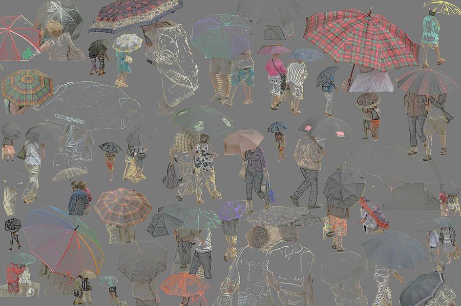 Middelkerke Umbrellas Photograph by Dominique De Leeuw