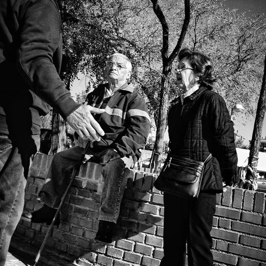 Blackandwhite Photograph - Middle-earth Locals  #people by Rafa Rivas