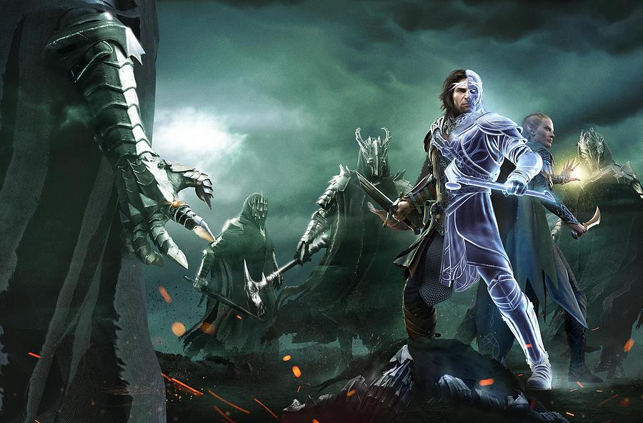 Diver Digital Art - Middle-earth Shadow Of War by Dorothy Binder