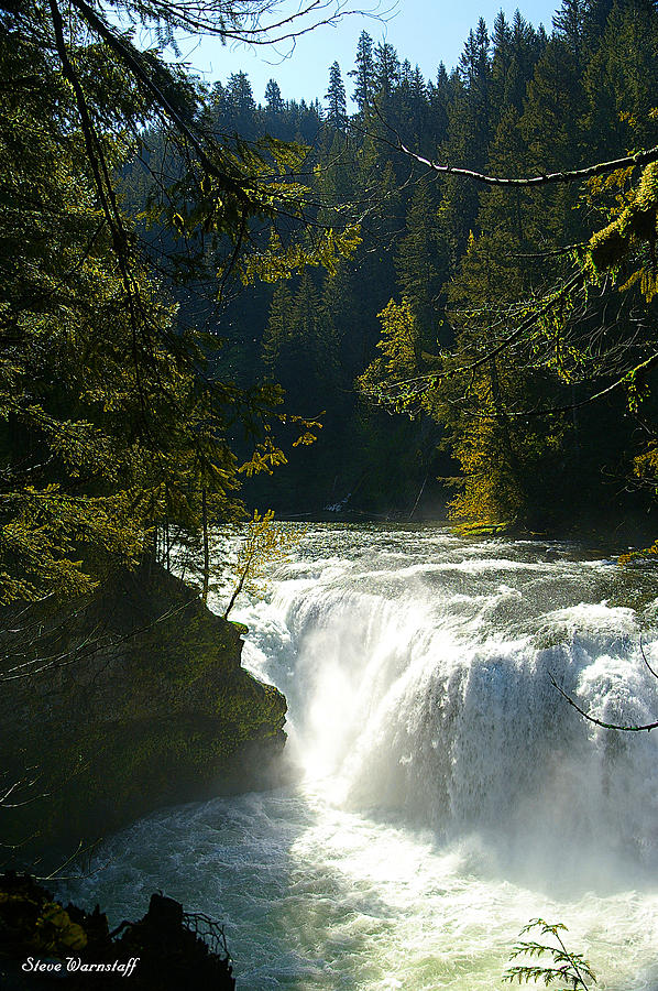River Photograph - Middle Lewis River Falls by Steve Warnstaff