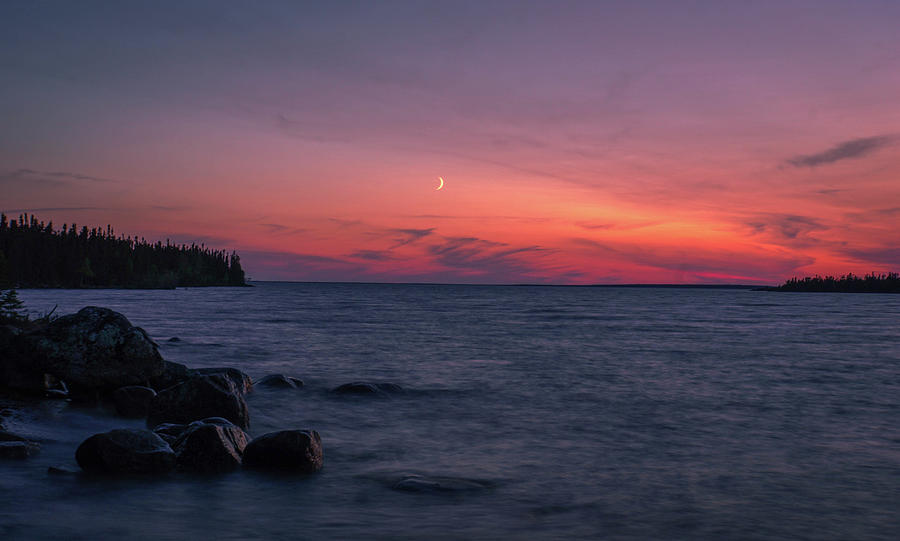 Landscape Photograph - Middle Moon by Paki OMeara