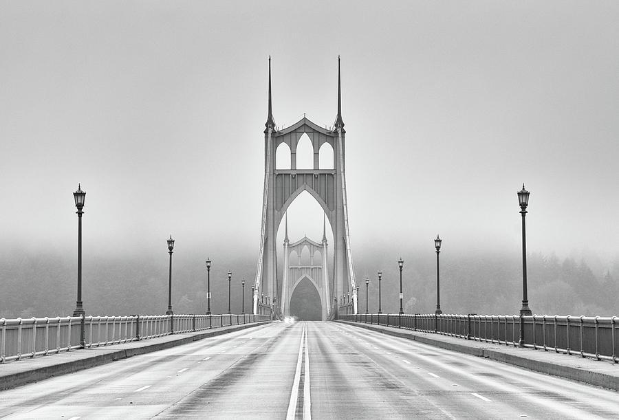 Horizontal Photograph - Middle Of Bridge by Chad Latta